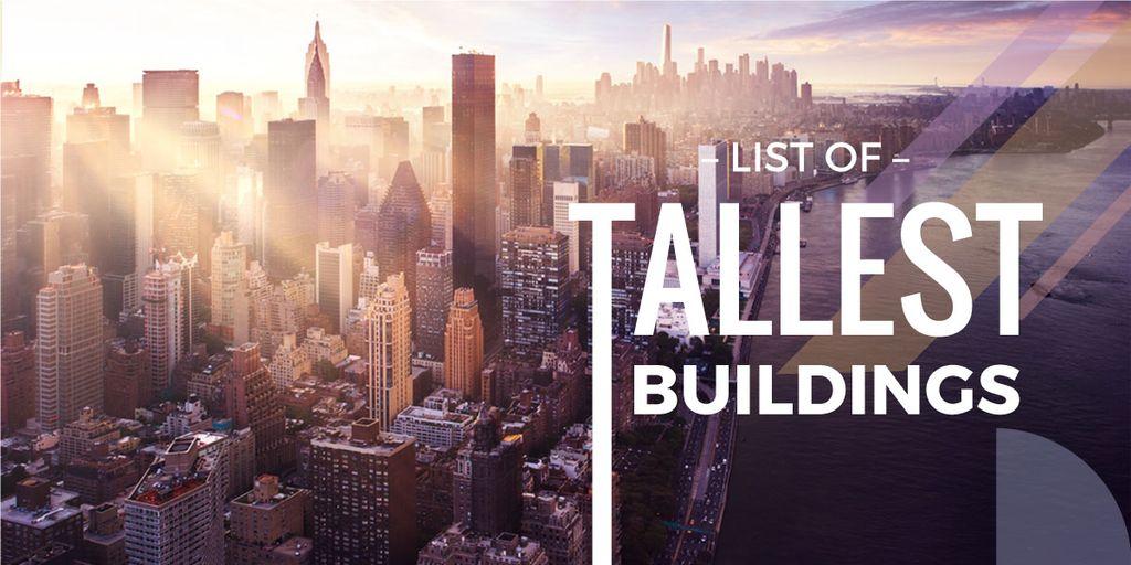 list of tallest buildings poster — Crear un diseño