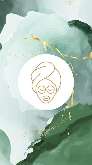 Plantilla de diseño de Beauty Salon procedures icons Instagram Highlight Cover