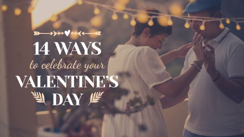 Happy loving Couple dancing on Valentine's Day - Bir Tasarım Oluşturun