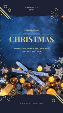 Celebrating Christmas with Shiny Christmas decorations