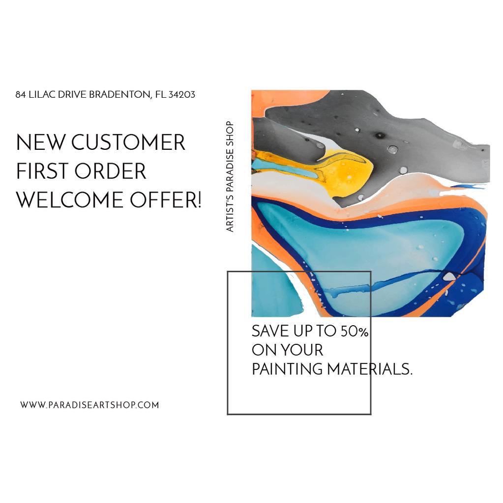 Painting materials shop — Modelo de projeto