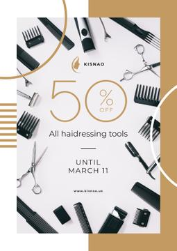 Hairdressing Tools Sale Announcement