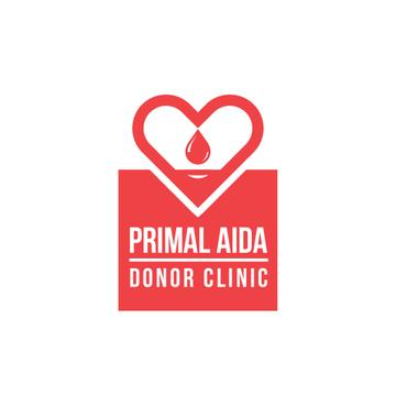 Donor Clinic with Heart Icon in Red