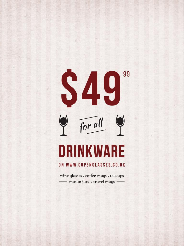 Drinkware Sale Glass with red wine — Maak een ontwerp