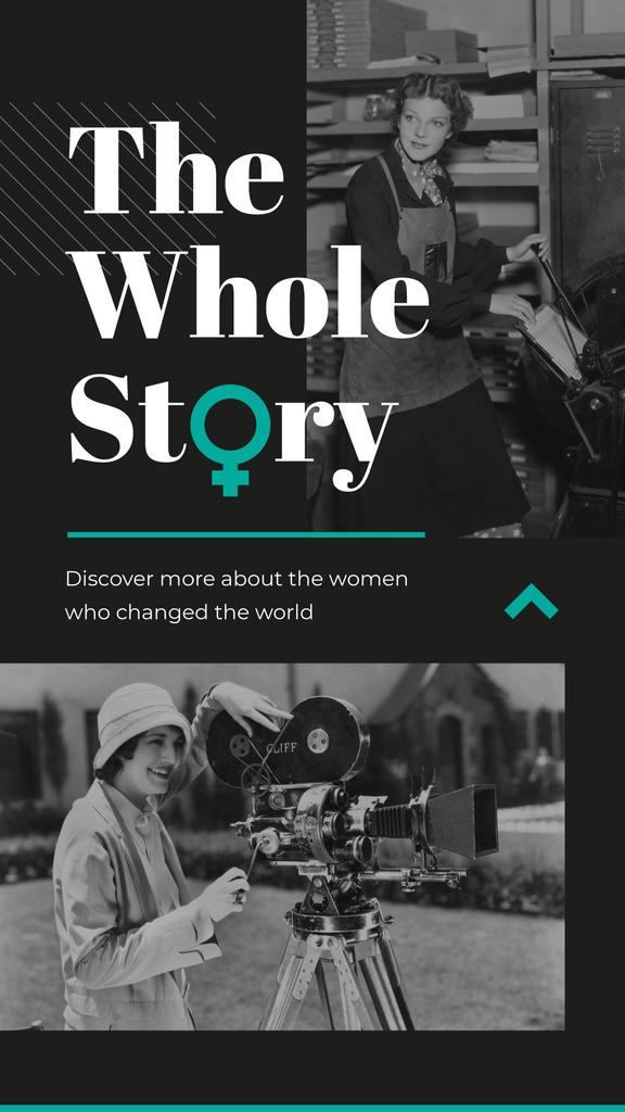 Women of diverse professions of past Instagram Storyデザインテンプレート