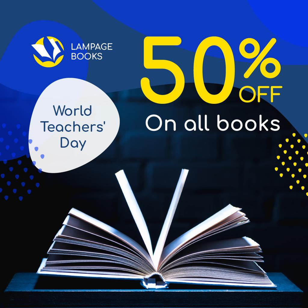 World Teachers' Day Turning Book Pages — Create a Design