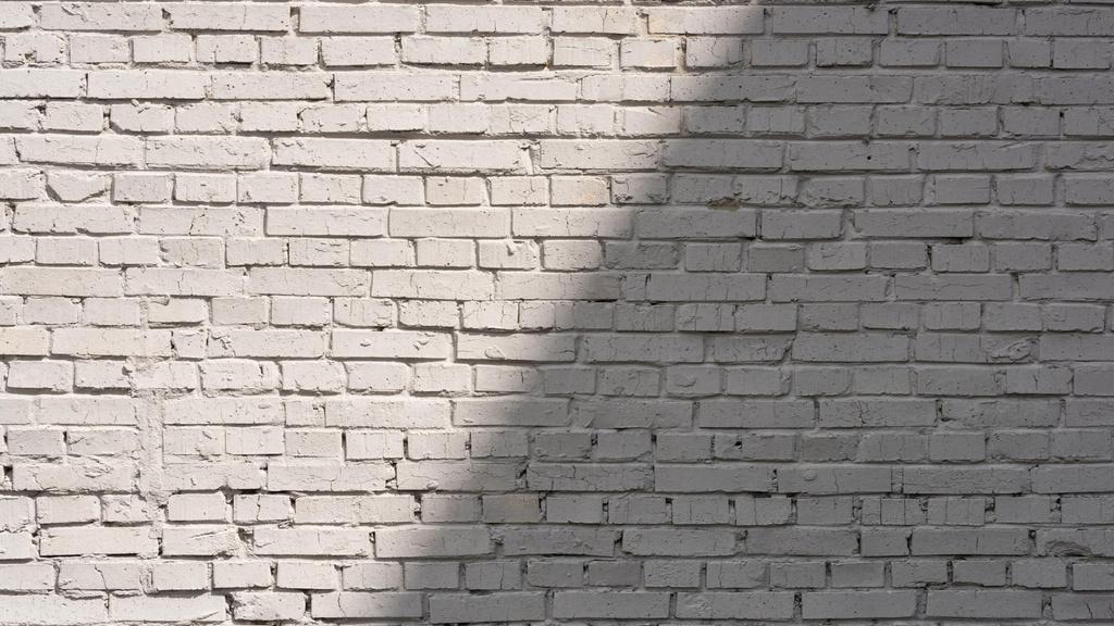 Ontwerpsjabloon van Zoom Background van White brick wall with Shadow