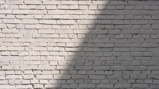 Plantilla de diseño de White brick wall with Shadow Zoom Background