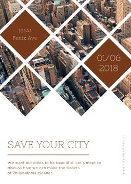Save your city event announcement