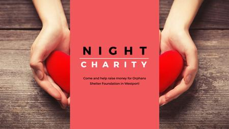 Plantilla de diseño de Corporate Charity Night Youtube