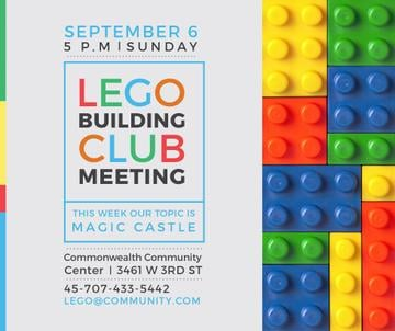 Lego Building Club Meeting Constructor Bricks | Facebook Post Template