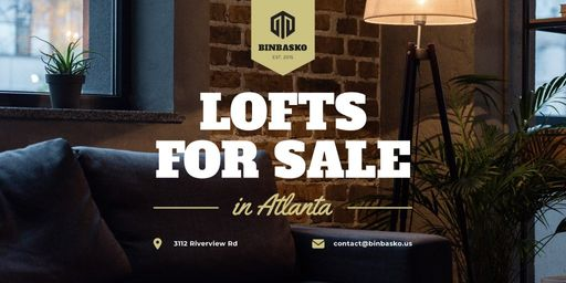 Real Estate Ad With Modern Loft Interior TwitterPost