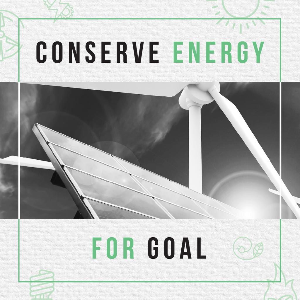 Concept of Conserve energy for goal — Créer un visuel