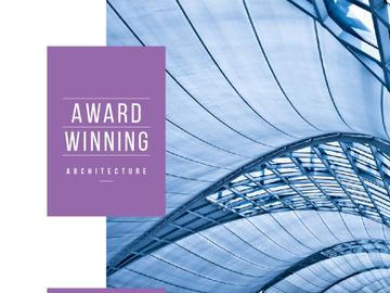 Award winning architecture Ad with Modern Building