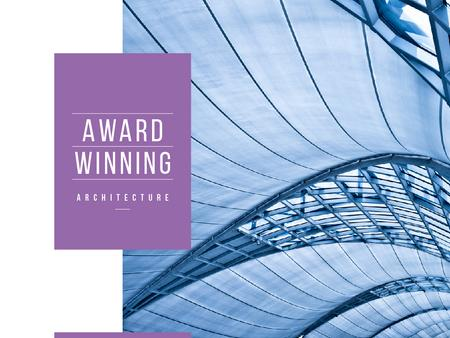 Designvorlage Award winning architecture Ad with Modern Building für Presentation