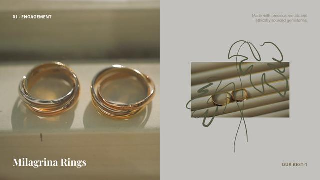 Template di design Jewerly Ad with Gold Rings Full HD video