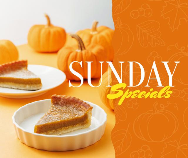 Plantilla de diseño de Thanksgiving pumpkin pie offer Facebook