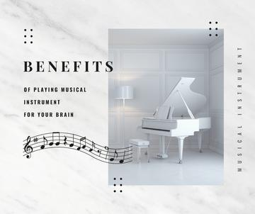 White grand Piano instrument