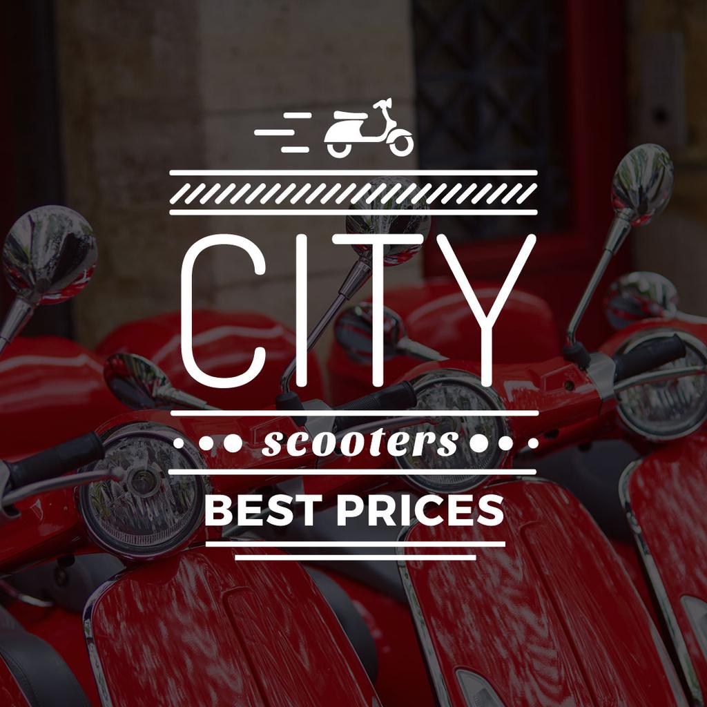 city scooters store poster — Crear un diseño