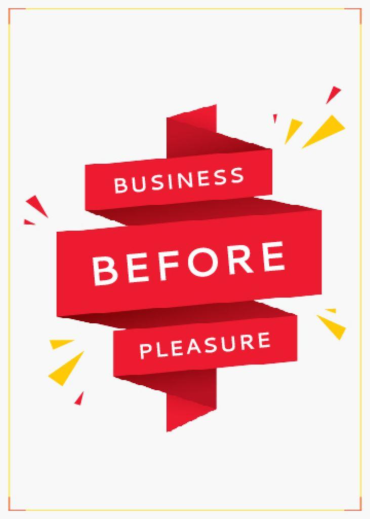 Business Quote on Red Ribbon — ein Design erstellen