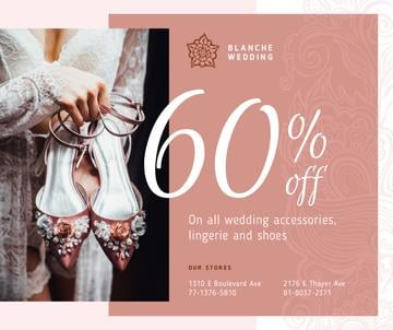 Wedding Store Offer Woman with Stylish Shoes in Pink | Facebook Post Template