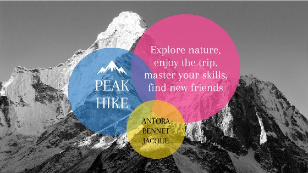 Peak hike trip announcement — Create a Design