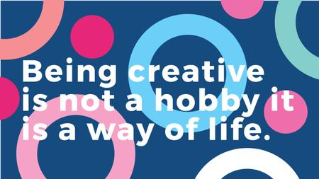 Citation about how to be a creative Youtube Modelo de Design