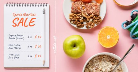 Ontwerpsjabloon van Facebook AD van Sports Nutrition Offer Healthy Breakfast