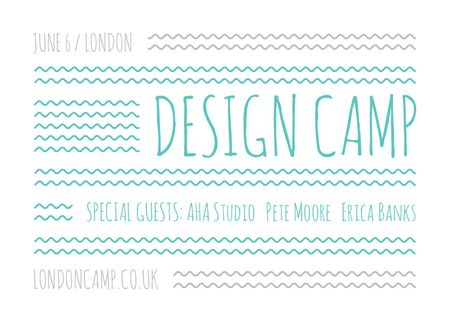 Plantilla de diseño de Design camp Announcement Card