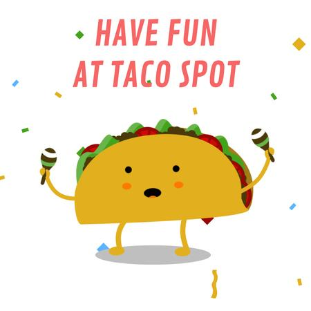 Dancing Taco With Maracas Animated Post Modelo de Design