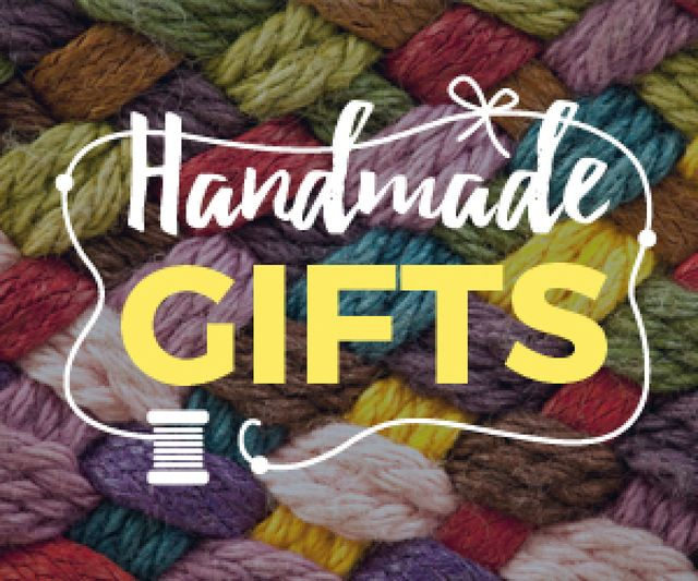 Ontwerpsjabloon van Medium Rectangle van Handmade workshop background