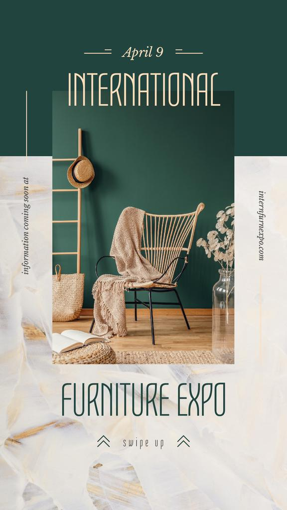 Cozy interior in green colors — Crear un diseño