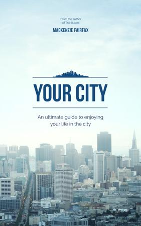 City Guide View of Modern Buildings Book Cover Design Template