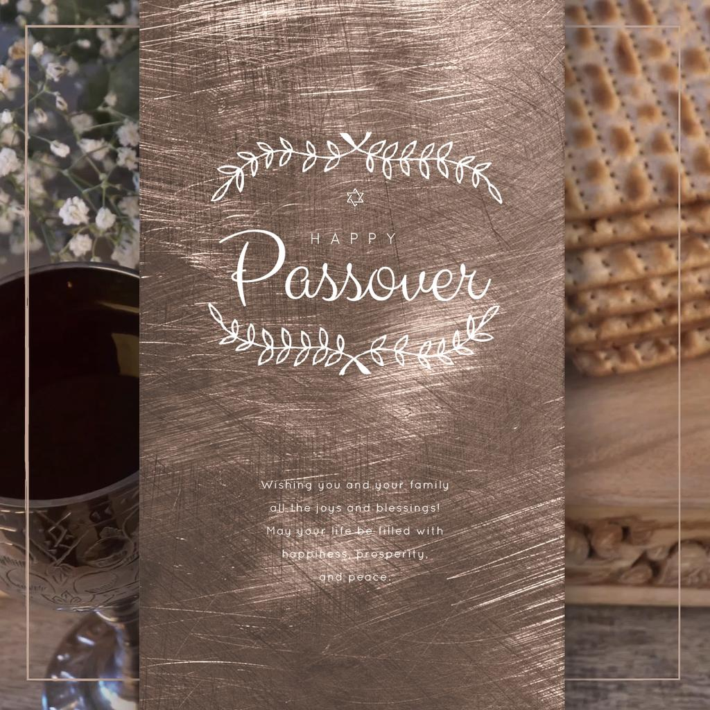 Happy Passover Table with Unleavened Bread — Créer un visuel