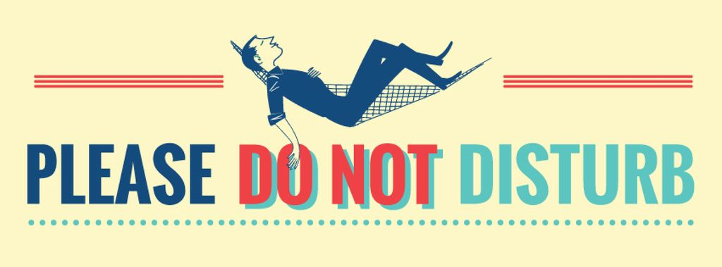 Please do not disturb Quote with resting Man — Crea un design