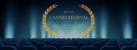 Plantilla de diseño de Cannes Film Festival seats in Cinema Facebook Video cover