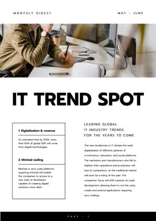 Plantilla de diseño de Leading Global IT industry Trends Newsletter