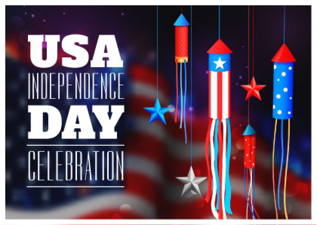 USA Independence Day Celebration — Créer un visuel