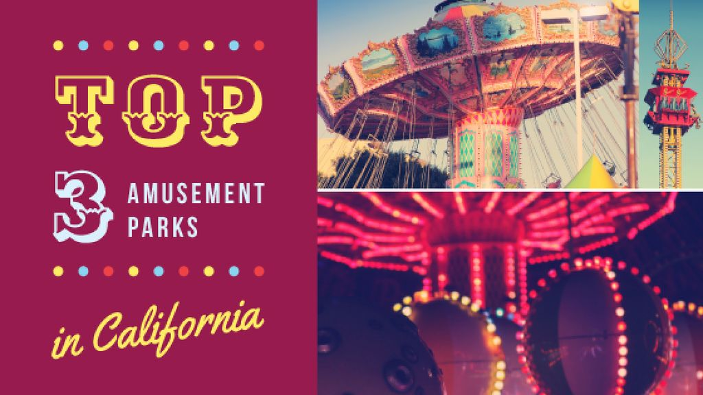 Amusement Park Promotion — Crea un design
