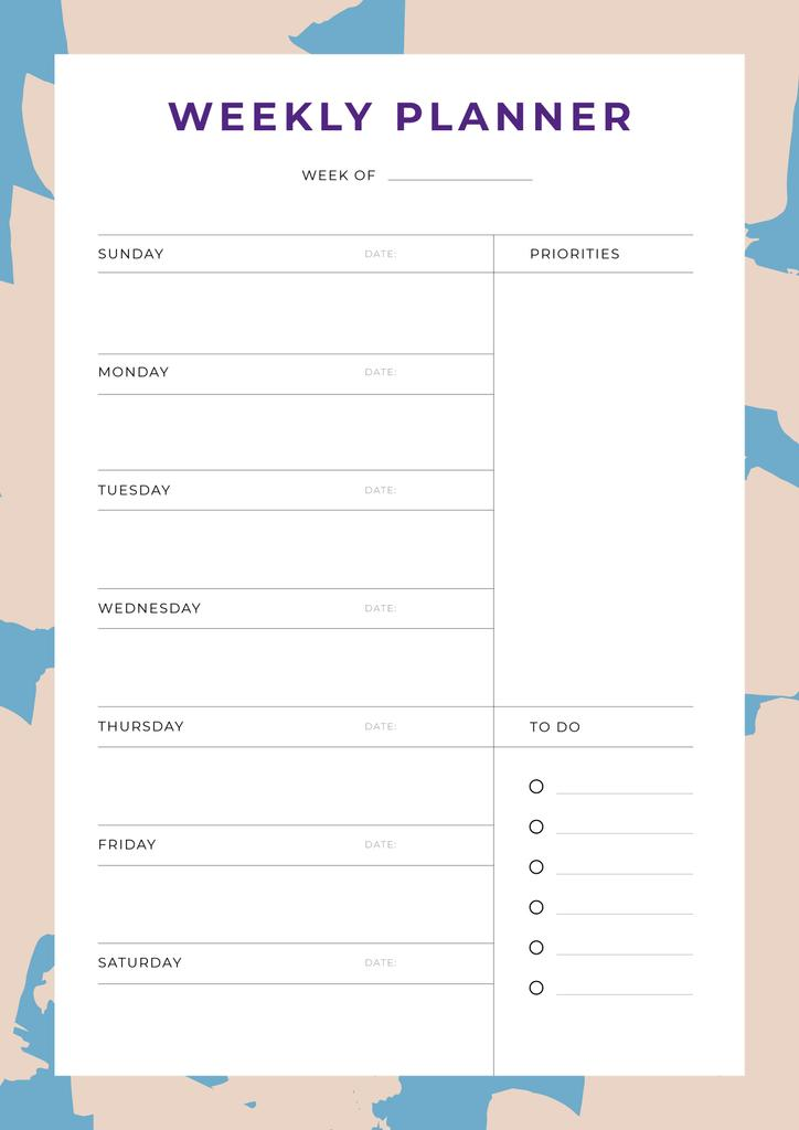 Weekly Planner in Abstract Frame — Створити дизайн