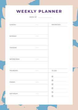 Weekly Planner in Abstract Frame