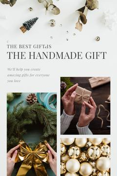 Handmade Gift Ides Woman Making Christmas Wreath | Pinterest Template