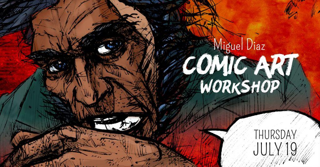Comic Con workshop with Character picture — Crea un design
