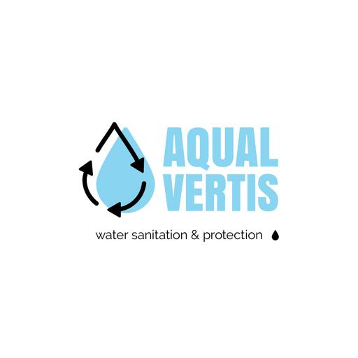 Water Services Ad With Drop In Blue