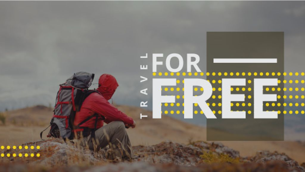 hiking travel poster  — Создать дизайн