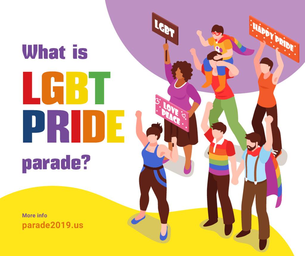 People at pride parade — Створити дизайн