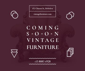 Antique Furniture Ad Luxury Armchair | Large Rectangle Template