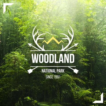 Plantilla de diseño de National park Invitation with Arrows and Horns Instagram