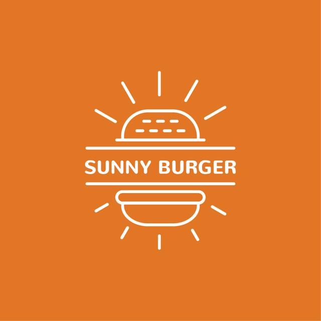 Plantilla de diseño de Fast Food Ad with Burger in Orange Logo