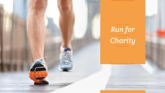 Run for Charity Motivation with Runner